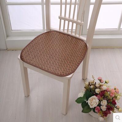 2015 summer cool ice silk straw seat mat chair mat sofa cushion cuscino assento do banco comida cibo(China (Mainland))