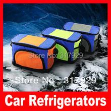 Free Shipping Dual ice pack passive car mini refrigerator cooler box heating box(China (Mainland))