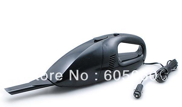 Brand New Super Suction Mini 12V High-Power Wet and Dry Portable Handheld Car Vacuum Cleaner Black Color Free Shipping(China (Mainland))