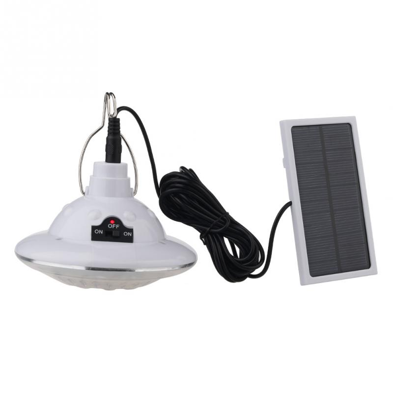 Hot led outdoor portable remote control solar powered garden lights camping lamp in solar lamps for Remote control exterior lights