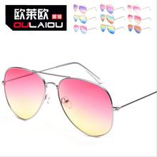 10 цветов 2015 горячая распродажа новинка г-жа анти-уф солнцезащитные очки морской лист дважды цветовых градиентов очки солнцезащитные очки прилив оптовая продажа G-19