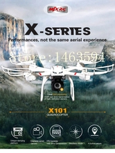 2016 New Hot Drones MJX X101 Professional Aerial RC Quadcopter 2.4G 6-Axis Gyro One Key Return Wifi FPV HD Camera RC helicopters(China (Mainland))