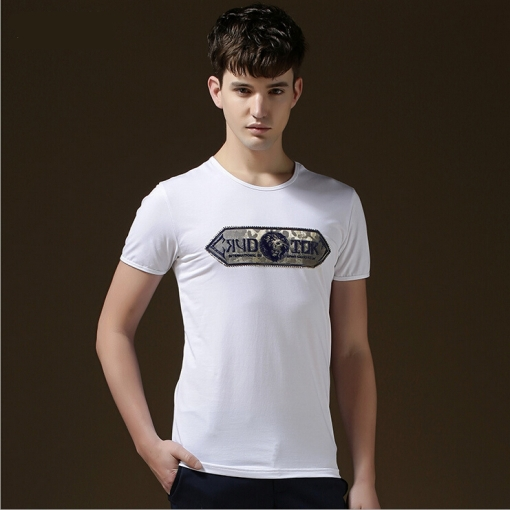 Men's New Fashion Print Cotton T-shirts Casual Stylish Top Men - Vogue Home store