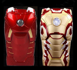 "New Version 3D Cool Hero Avengers Iron Man Ironman Armor Led Flash Light Hard Case Cover For Apple iphone SE 5 5S 6 4.7"" Shell"