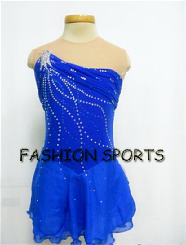 2015 Custom Children Blue Ice Skating Dress Fashion New ...