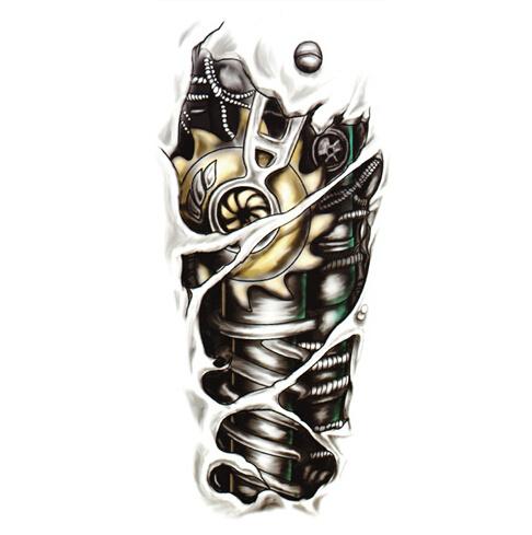 Free Shipping New Fashion Man 3D Tattoo Robot Arm Waterproof Temporary Tattoo Stickers(China (Mainland))