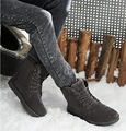 Winter men boots warm suede boots with fur snow boots free shipping plus size XM 15