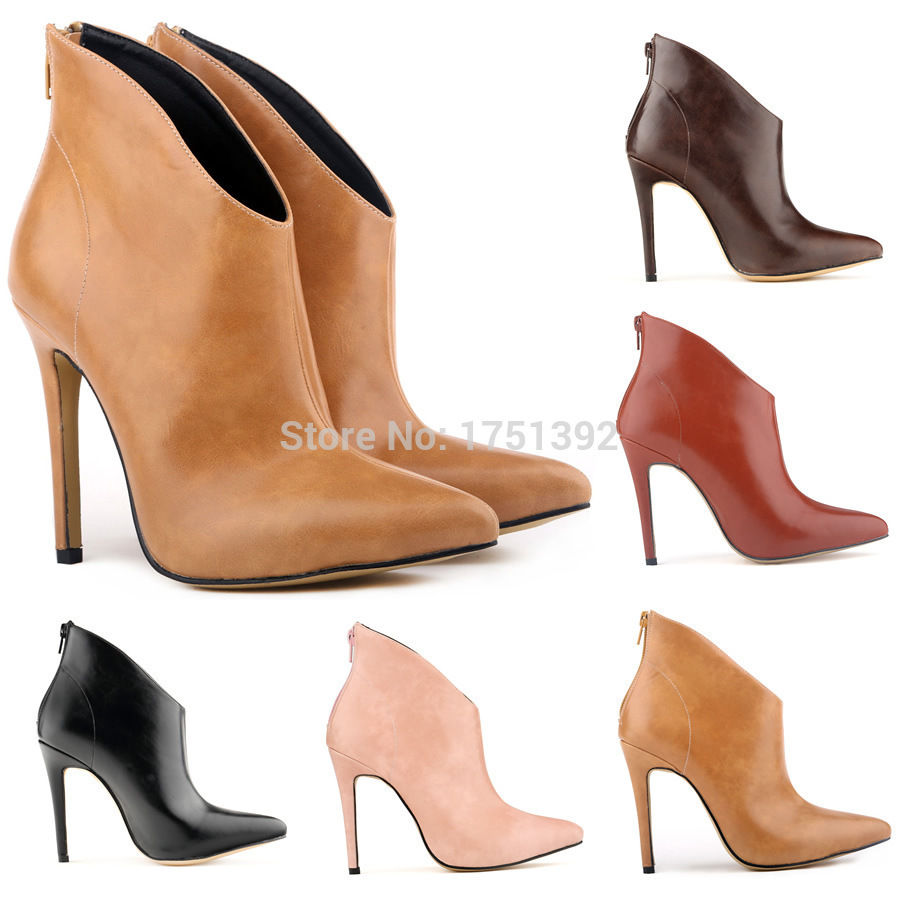 WOMENS FAUXLEATHER HIGH STILETTO HEELs PLATFORM ANKLE BOOTS SHOES 2015 fashion boots sexy shoes women - Online Store 139886 store