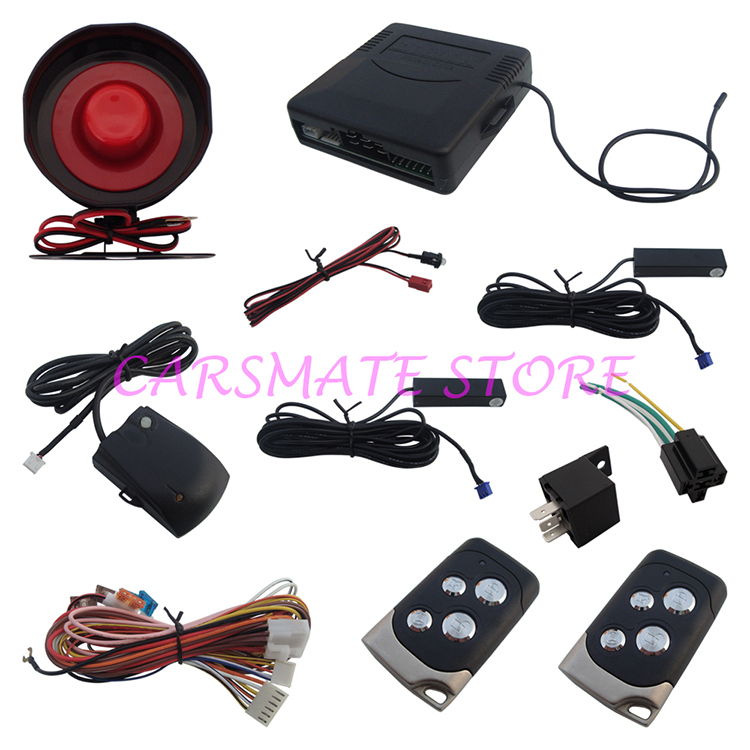 Universal PKE Auto Alarm System Hopping Code Alarm With Dome Light Delay & Power Window Output Suitable For All Kinds Of Cars(China (Mainland))