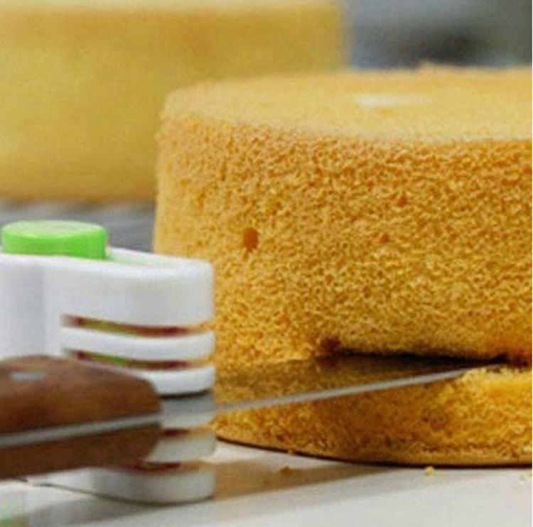 Free Shipping 1 Pair Slicing Cake Layers Cutter 5 Layers Slicer Cutting Fondant Decorator Tools Cake Slicing Kit Kitchen Knives(China (Mainland))