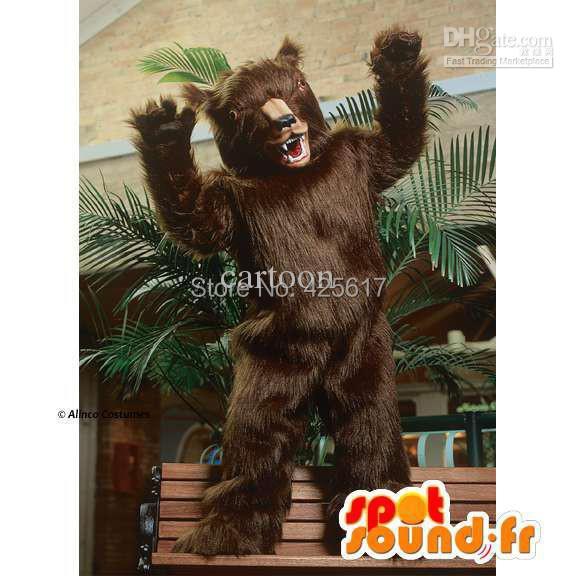 Hot selling!New strange long pluh customized Black bear Cartoon Fancy Dress Suit Outfit Animal Mascot Costume - Sam's World store