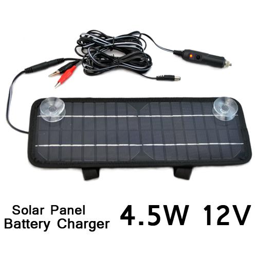 Multi-Purpose Car Solar Panel mono solar cell solar back sheet Battery Charger Car RV 12V 4.5W ESP01(China (Mainland))