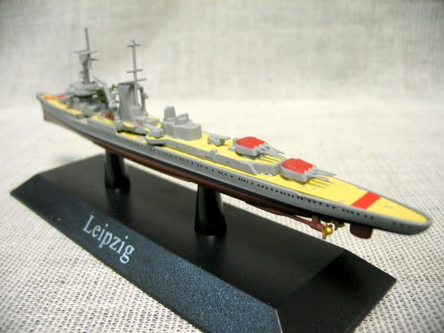 Atlas 1:1250 Germany in World War II Leipzig class light cruiser model Mini warship model Rare collection model Only one(China (Mainland))