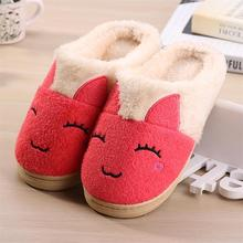 New Winter Cartoon Women's Shoes Rabbit Cotton Zapatos Mujer Home Slippers Pantoufle Femme Indoor Zapatillas Casa