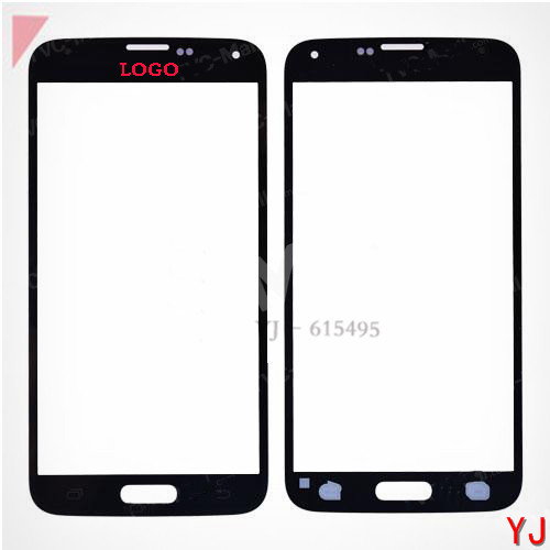 Free shipping 10 pcs/lot Front Glass Screen Lens Replacement for Samsung Galaxy S5 SV GS 5 - Black White(China (Mainland))
