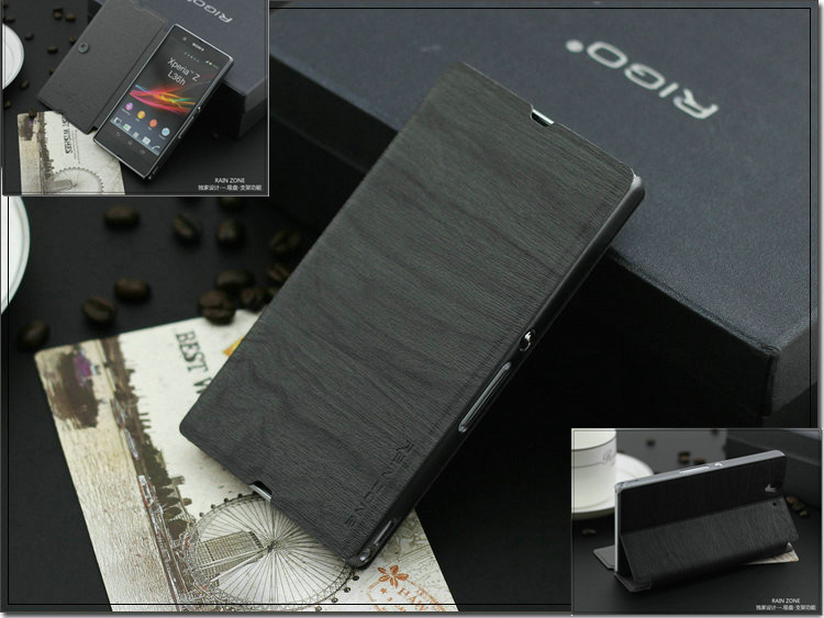 sony Z case leather.best quality.4 colors Luxury features suction cups cover z xperia l36h cover. - Rachel's phone store