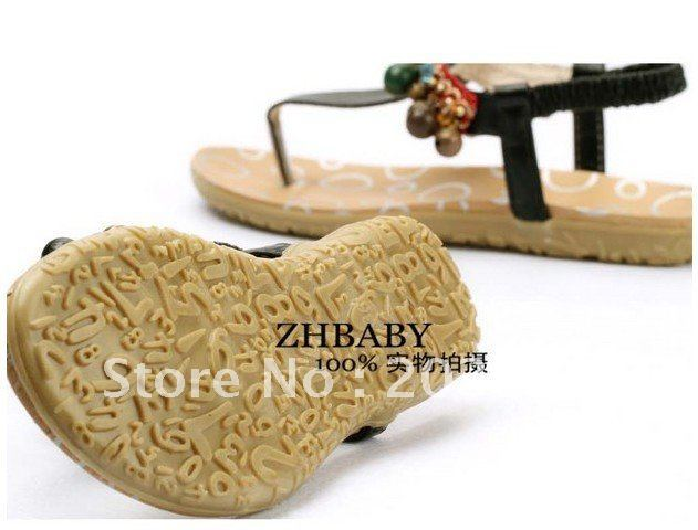 Free shippin 2011 new Southeast Asia amorous feelings beaded bell sandals, includes a 9237 fable post