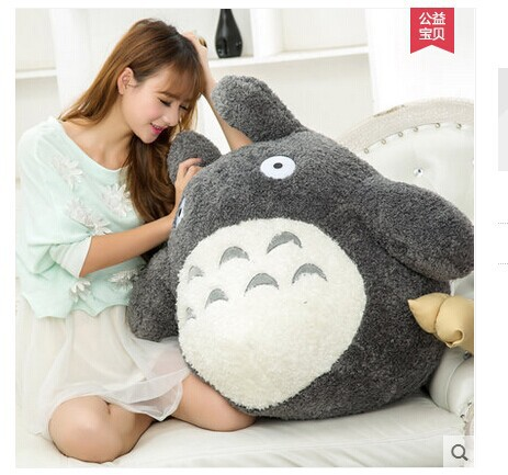 free shipping ,about 60cm cartoon Totoro plush toy dark grey totoro doll , throw pillow , Christmas gift w4704(China (Mainland))