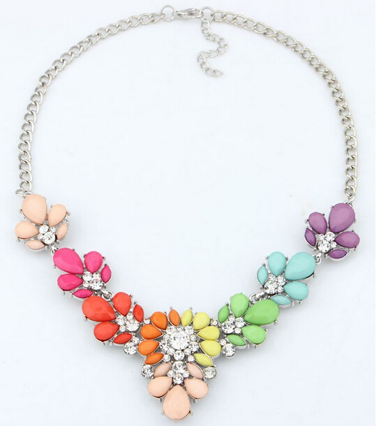 2016 New 3 Colors Crystal Statement Necklace Choker necklaces pendants For Woman Bib Chorker Necklaces Women