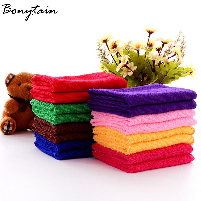 10Pcs/lots Square New Style Soft Microfiber Cotton Hand Face Car Cloth House Cleaning Towel Practical Wholesale 25*25cm