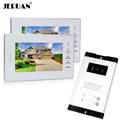 JERUAN Wholesale Apartment 7 Video Intercom Door Phone Entry System 2 Monitors 1 Doorbell Camera for