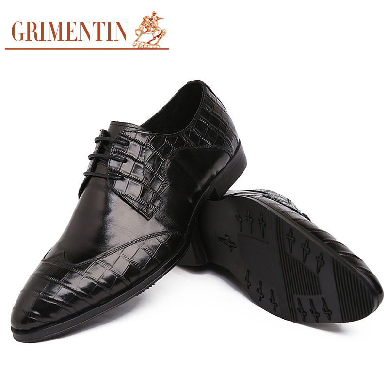 2016 Italy designer genuine leather mens shoes casual luxury black vintage windtip oxford shoes for men flats for male business(China (Mainland))