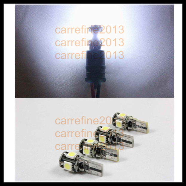 wholesale 50pcs/lot canbus t10 5smd 5050 led car led light canbus w5w 194 5050 smd error free white tail light bulbs<br><br>Aliexpress