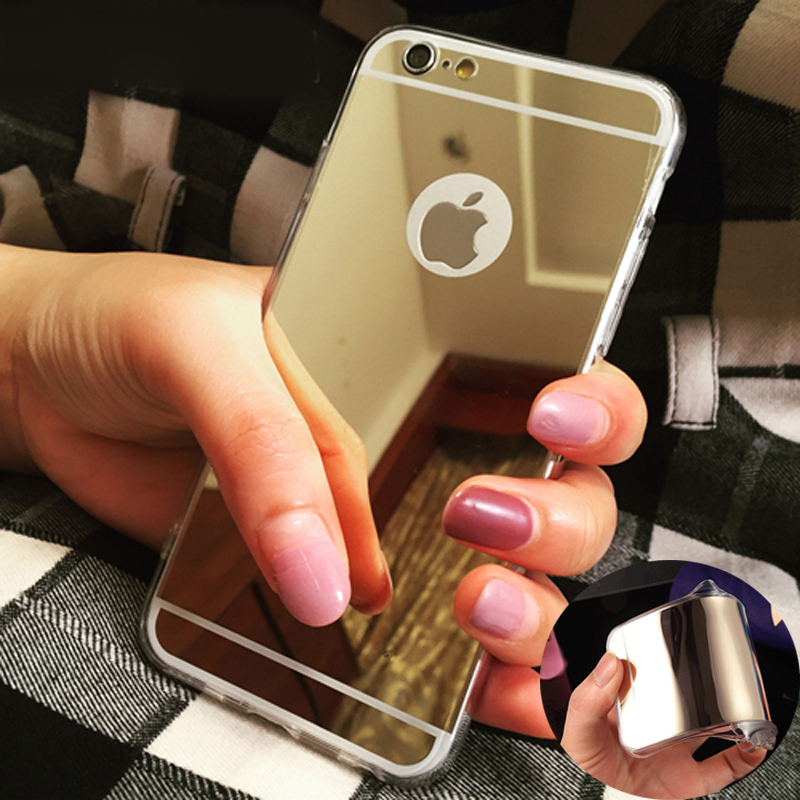 For IPhone6 6S 4S 5S 6plus 6splus LG G3 G4 V10 Electroplate Soft TPU Clear Mirror Cover Rose Gold Luxury Bling Mirror Case(China (Mainland))