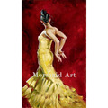 Pure Handmade sexy dancer girl Flamenco Spanish Woman Heat Dancing Dancer Oil Painting Canvas art Flamenco