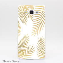 1325G Gold Leaves Print Transparent Hard Case Galaxy A3 A5 A7 8 Note 2 3 4 5 J5 J7 Grand Prime - TTcase Store store
