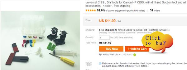 איכות גבוהה universal מילוי דיו , 4 צבעים ,חליפה עבור Eposn Canon HP מדפסת אח .Shippping חינם