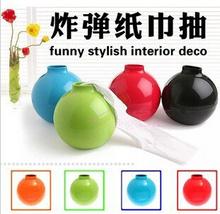 Creative Candy Color Home Decor Bomb Shape Fashion Luxury Tissue Box Round Shape Car Styling Napkin Holder Case Container(China (Mainland))