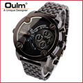 Free shipping OULM wristwatch HT3130 Stainless Steel Men Quartz Watch Fashion Unique bracelet watch