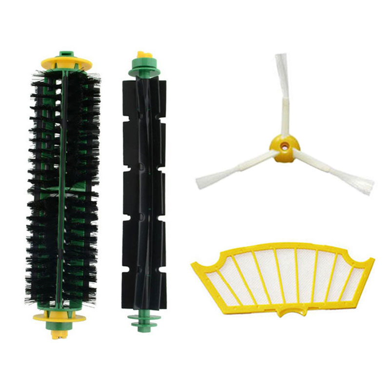 Replacement accessory kit for irobot roomba 530 532 535 includes 1 side brush, 1 pack filter, 1 bristle brush and 1beater brush(China (Mainland))
