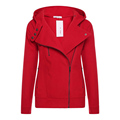Autumn Winter Women Skinny Zip Hoodie jacket Coat CottonSlim Short Outwear Hot New Long Sleeve Slim