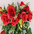 9 Color Artificial Rose Garland Silk Vine Flower Plant Garlands Ivy Home Wedding Garden Floral Decoration