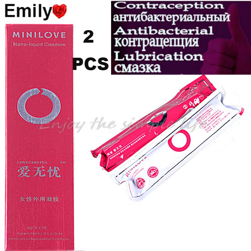 2016 HOT 2 PS Femal Contraceptives Liquid Condom Adult Sex Products Lubricant for Sex Toys For Women Free Shipping