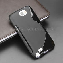 8 Color S-Line Anti Skidding Gel TPU Slim Soft Case Back Cover For Samsung Galaxy Note 2 N7100 Mobile Phone Rubber silicone Bag(China (Mainland))