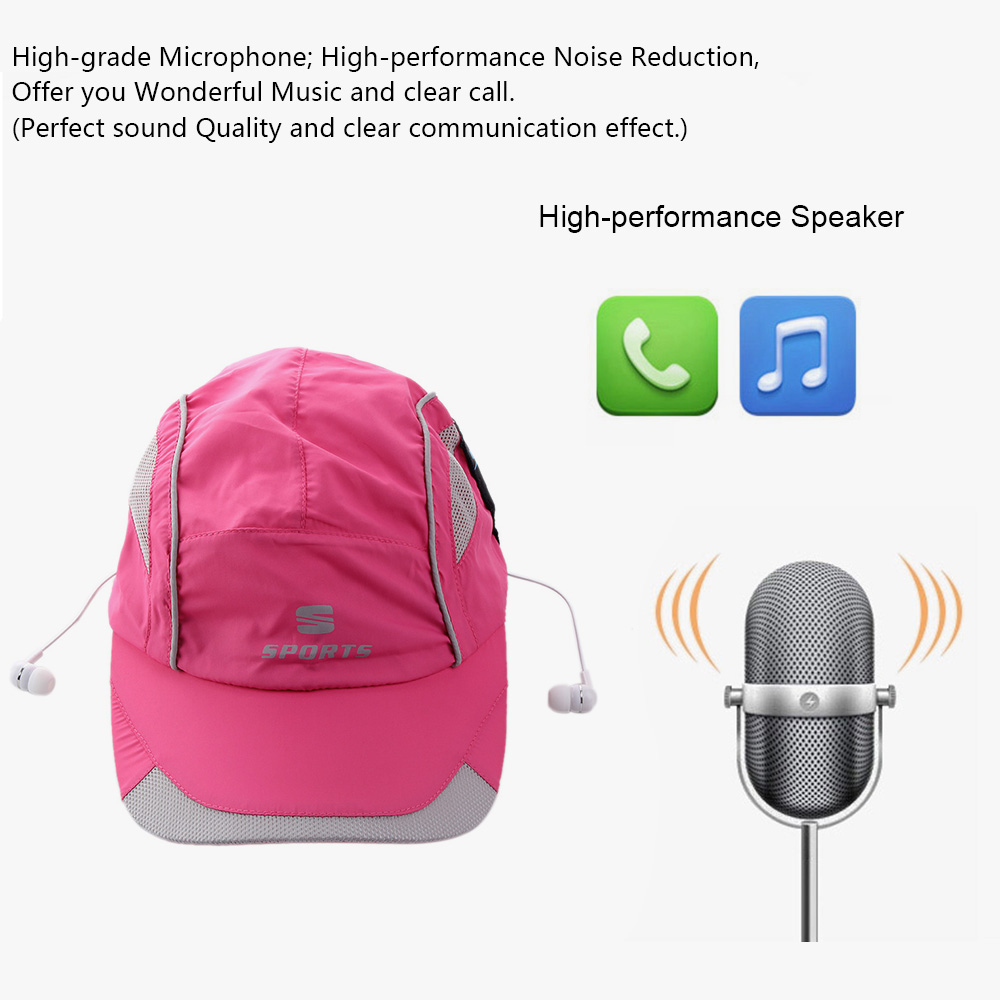 Sun Hat Bluetooth Earphones Bluetooth 4.0 + EDR Stereo Music Headset With HIFI Music Speaker Supports Hands-free for Smart Phone(China (Mainland))