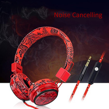 Gaming Headphones Microphone PC Wired Earphones Noise Cancelling Headset 3D Stereo Surround  Foldable Ear Phones High Quality