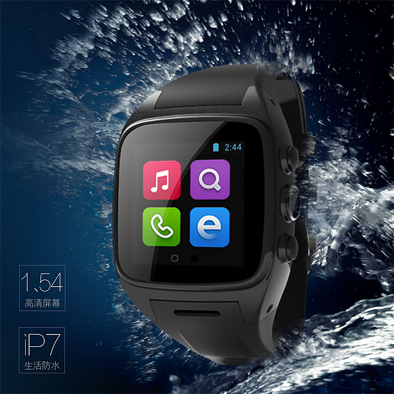TOP quality Android 4.4.2 WIFI 3G Waterproof Smart Wrist watch Cell Phone Watch with SIM card(China (Mainland))