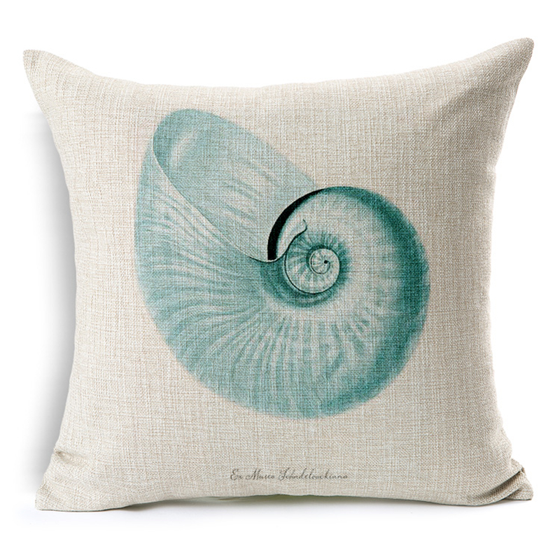 Sea Shell Throw Pillow Covers funda cojin 45 45cm Sofa Bedroom Cushion Accessories Home Decoration Art