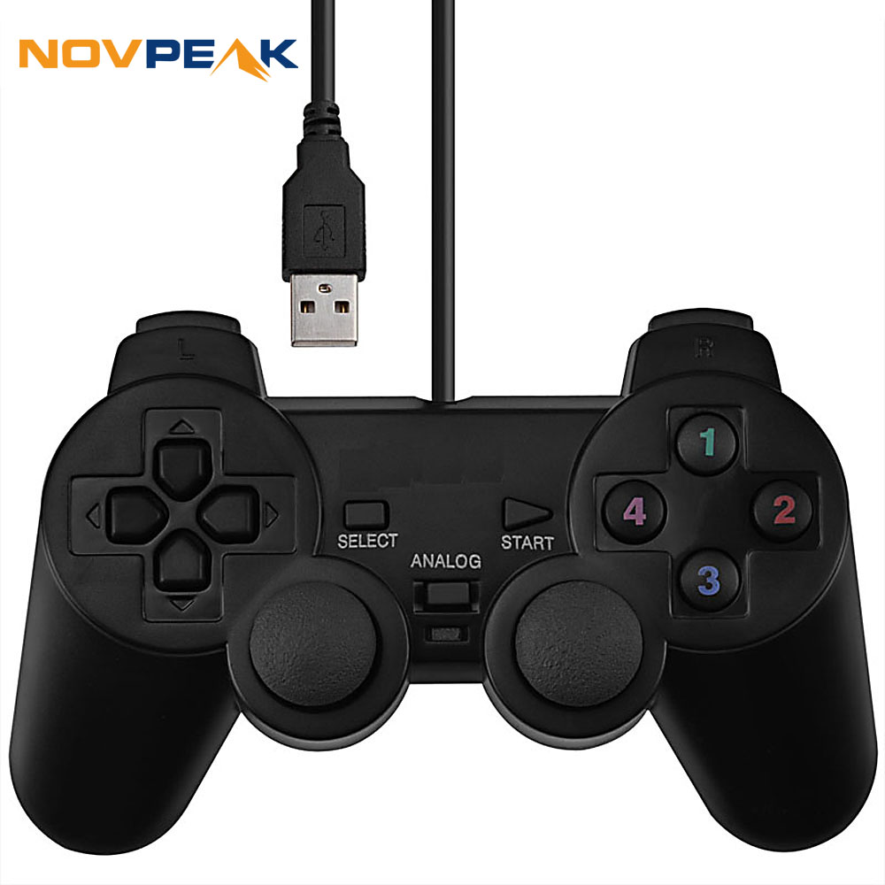 USB Wired PC Game Controller Gamepad Shock Vibration Joystick Game Pad Joypad Control for PC Computer Laptop(China (Mainland))