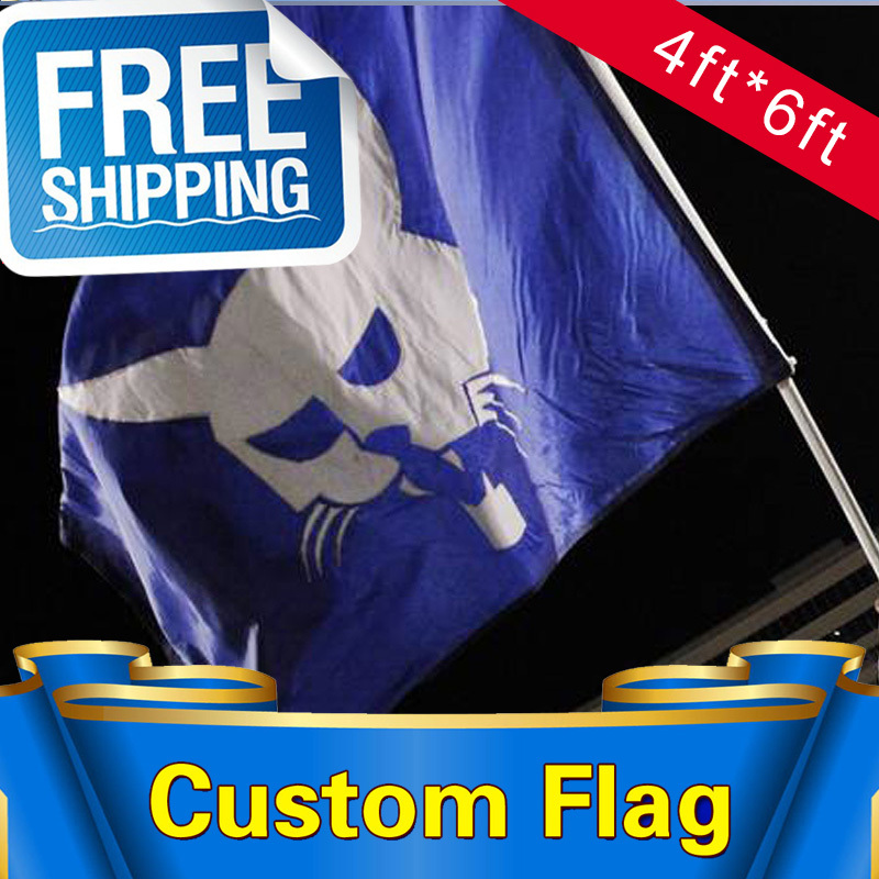 4ft*6ft Free Shipping Double Sided Custom Flags and Banners Flag Any size Any Color Any Logo FlagsSport Flags Corporate Flags