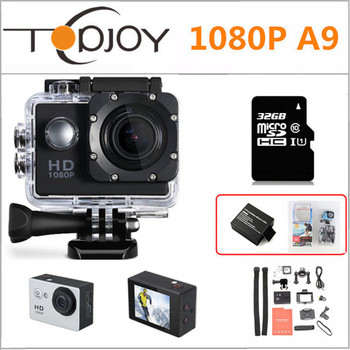 A9 Gopro Style Action Camera 1080P Full HD 2K 2'' 30M Waterproof Mini Action Outdoor Sport Cam 1920*1080 Sport Video Camera