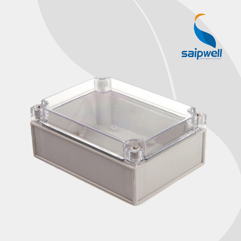 125*175*75mm European Style IP66 ABS Clear Plastic Enclosure Box (DS-AT-1217)(China (Mainland))