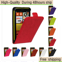 Crazy Horse Texture Vertical Flip Leather Case for Nokia Lumia 625 Free Shipping