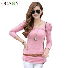 9 Colors New 2014 Autumn Winter Puff Sleeve O-neck Long Sleeve Casual Women Blouses Shirts Plus Size Blusas Femininas