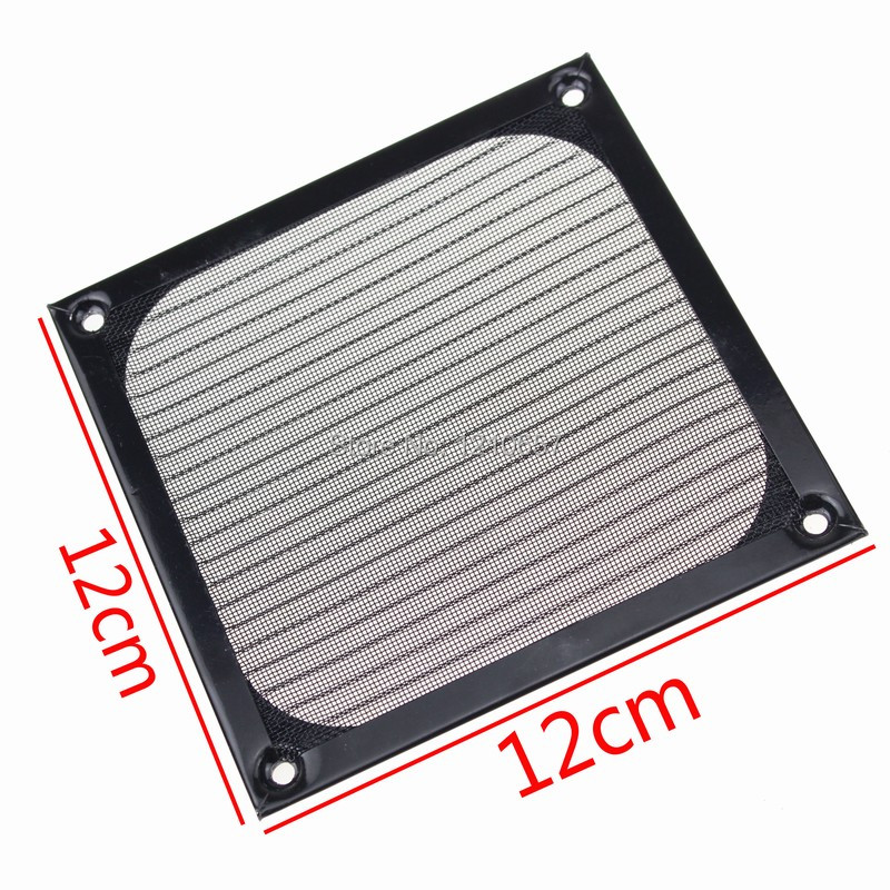 5Pieces lot 120mm PC Computer Fan Cooling Dustproof Dust Filter Case fr Aluminum Grill Guard(China (Mainland))