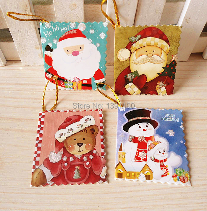 The unique decoration kinsfolk Best wishes Cute pattern toy group cartoon Christmas Card Christmas decorations for home(China (Mainland))